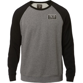 Fox Resin Crew Neck Fleece Pullover Herre heather graphite